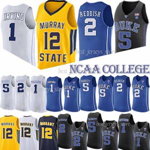 NCAA Duke 1 Zion Williamson 12 Ja Morant Université 2 Cam rouquine 4 Redick NCAA 32 jersey Laettner hommes concepteur t-shirt