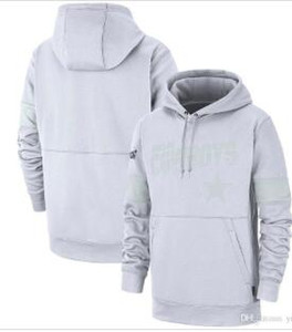 Masculina Dála Camisolas Cowboy 100th 2019 Sideline Platinum Therma Pullover Hoodie Branco