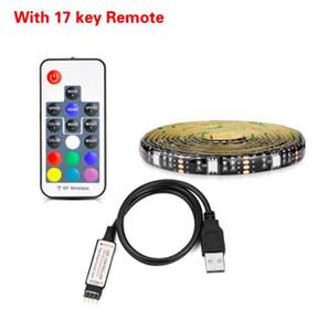 DHL 5050 striscia di RGB LED impermeabile 30LED / M USB LED strisce flessibili Neon Tape 4M 5M aggiungere telecomando per la TV di sfondo