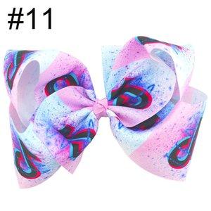 Livraison gratuite 10pcs 8 « » TikTok grande fille cheveux Archets Accessoires avec clip Boutique Bow Hairpins Ornements cheveux