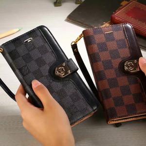 Cassa del telefono raccoglitore del sacchetto di trasporto di goccia per IPhone 11 X 8 7 6 Plus pelle di cuoio della copertura per Samsung S10 S9 S8 Nota 10 9 8 elegante copertina