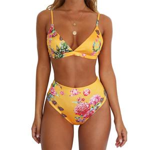 Femmes Bikinis Floral D'été Sexy Cheetah Maillots De Bain Brésilien Taille Haute Maillot De Bain Boa Beachwear Mode Maillots De Bain Léopard De Bain Costume