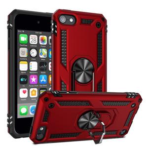 Armor Dual Layer Case Case a 360 gradi Ruotatore rotante Porta in metallo Kackstand Cover antiurto per iPod Touch 5 / Touch 6