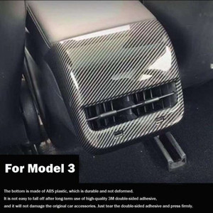 Car Interior Rear air-conditioning outlet protective cover For Tesla Model 3 rear seat exhaust vent cap auto modified accessories