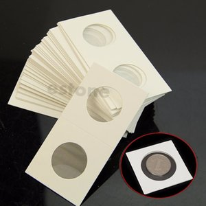 50pcs 17.5mm-40mm Coin Holders Storage Clip case paper bags Flip 2x2 Flips Paper Boards Coin Collection Home Decor
