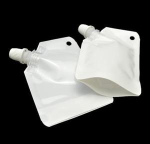 50ml di plastica bianca doypack liquido stand up bag imballaggio del sacchetto di stoccaggio con laterale becco trasporto libero