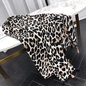 Atacado-Long Scarf Quente Sexy Leopard Dot Viscose Shawl Senhoras Enrole Scarf Outono Inverno Imprimir Enrole Pashminas Sjaal muçulmano Hijab Baixada