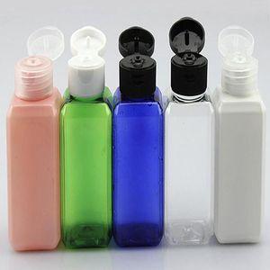 50ML (1 2 / 온스) 모듬 색상 채우는 플라스틱 PET 쉬운 플립 캡 도매 광장 샘플 병 병