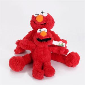 Дизайнер Улица Сезам Kaws 5 Модели Плюшевые игрушки Элмо / BIG BIRD / Ernie / ИЗВЕРГА Фаршированная Лучшее качество Большие подарки для детей