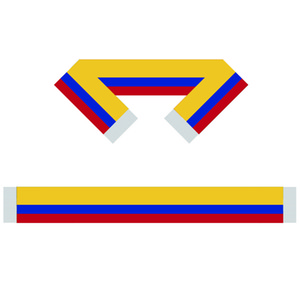 Colombia Fans Scarf Banner 6X60 inch 100٪ Polyester، World Flag Scarf ، يمكنك استخدام أشخاص أو ألعاب توفر لك الدعم