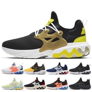 Nike Shoes Clássico Presto Reagir Homens Mulheres Running Shoes malha respirável Brutal mel Triplo Preto Psychedelic Lava Breezy quinta-feira negra brancas Shoes