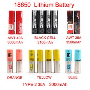 Batteria ricaricabile Nuovo arrivo AWT 18650 3000mAh-3500mAh per Mix marchio BLACK CELL MXJO tipo di batteria al litio 1 2 Con FedEx