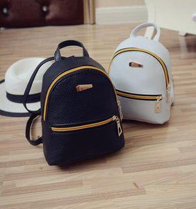 25pcs 배낭 여성 PU 가죽 배낭 방수 내구성 미니 여행 배낭 핸드백 학교 가방