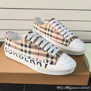 Nouveau Hommes et femmes Imprimer Vintage Cotton Vérifiez Sneakers Luxury Designer Shoes Hommes Femmes sport Chaussures Mode Casual Top Qualité