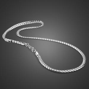 100٪ الصلبة 925 الفضة الاسترليني الملتوية سنغافورة سلسلة 22 بوصة 6MM للنساء الرجال جديد الجملة DIY قلادة طويلة رجل مجوهرات CX200609