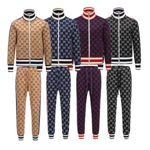 2019 juegos de sudor Diseñador Hombres chándal para hombre Marca ver otoño lujo chándales del basculador de los pantalones en la chaqueta de traje de impresión Establece Sporting hombres cotto