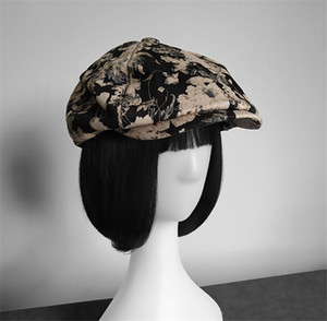 Auutmn chapeaux d'hiver pour les femmes solides plaine octogonal Newsboy Cap Hommes Femmes Laine Casual Chapeau d'hiver Beret femmes Peintre Cap