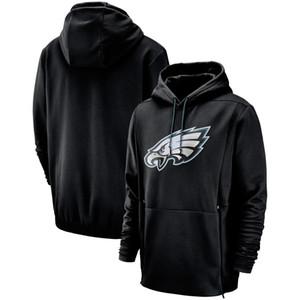 2019 nouveaux hommes Philadelphia Sweatshirts Eagles Salut au service Sideline Therma Performance Noir Vert Pull À Capuche