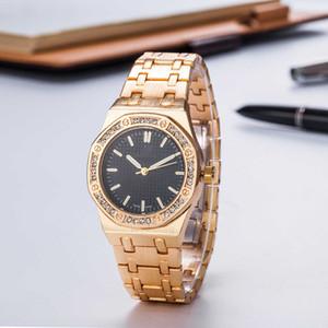 Nova Moda das mulheres relógio de diamantes Senhoras relógios de luxo designer Sliver pulseira de aço Inoxidável Royal Oak relógio de pulso montre de luxe Relógio