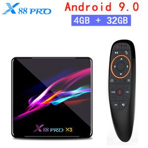 X88 PRO X3 Smart TV Box 8K Android 9.0 TV Box 4GB RAM 32GB 64GB ROM S905X3 Quad Core H.265 2.4G&5G WiFi Set Top Box PK X96 MAX Voice Control
