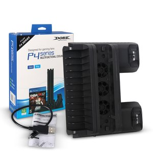 PS4 PRO SLIM tout-en-un siège de poignée de jeu de support de base Contrôleur de charge de charge fan plateau de disque de refroidissement pour SONY Playstation 4 MQ10