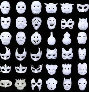 Yeni Beyaz Boyasız Yüz Düz Blank Sürüm Kağıt Hamuru DIY Maske Masquerade Maske 1000pcs IB382 Maskesi
