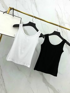 2020 United States womens designer luxury sexy street party camisoles women sleeveless garment Elastic breathable Alphabet embroidery vests
