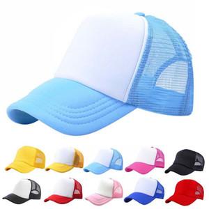 Мода Регулируемые Солнцезащитные Шляпы Малыш Дети Бейсбол Шляпа Snapback Cap Сетка Крышка Дальнобойщик Шляпа 100% Полиэстер Шляпы