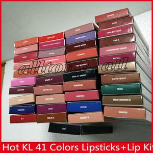 EN STOCK!!! cosmétiques Hot KL Lips Lip Kit de jenner mat Brillant à lèvres 40 couleurs matte crayon à lèvres de rouge à lèvres liquide