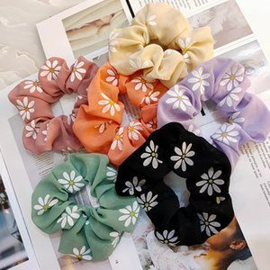Korean version of the new chiffon large intestine ring candy color tie horsetail rubber band hair rope wide edge cloth art hair ring female