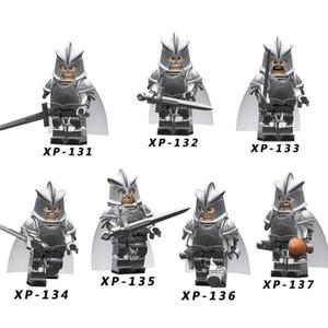 Thrones of tek Satış oyunu aksiyon Figürleri teknik Şövalye Gondor Asker Mızrak Kılıç Yapı Taşları Tuğla Oyuncaklar