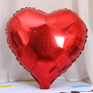 EMS 18 inch Heart Foil Balloons Valentines Day Wedding Birthday Party supply EMS Free Shipping