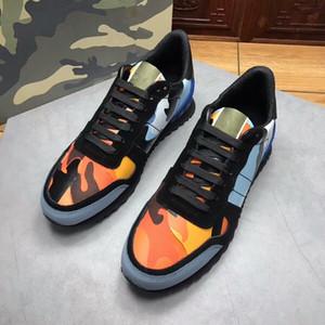 Mode pour hommes Chaussures de sport Camo camouflage Rockrunner Entraîneur dentelle cuir Chaussures de sport de luxe Hommes Chaussures Top Designer