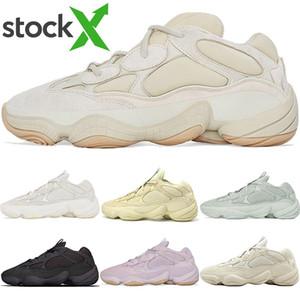 Top qualidade 2020 New pedra macia Visão Kanye West Desert Rat 500 Homens Mulheres Running Shoes osso branco Blush Esporte Sneakers com caixa