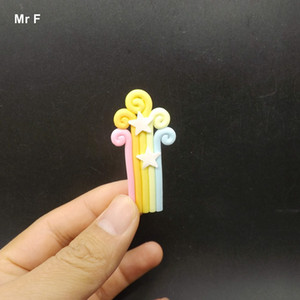 Toy Kid Standing Flat Back Resin Kawaii Rainbow Model Accessories Decorative Craft Diy