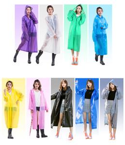 Ева Плащи Водонепроницаемый Прозрачный Дождь Одежда Модные женщины мужчины Плащи Плащ Пальто Куртка Бахрома Одежда Плащ от дождя 19 цвет