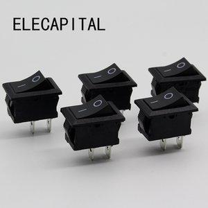 Switches 5Pcs Lot Black Push Button Mini Switch 6A-10A 110V 250V KCD1 2Pin Snap-in On Off Rocker Switch 5PCS Lot 21MM*15MM BLACK
