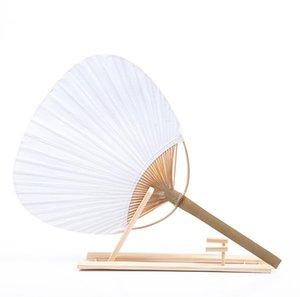 DHL100pcs Paddle mão Ventiladores com quadro de bambu e Handle Wedding Party Favors presentes Paddle Papel Fan espanhol Fan