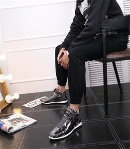 2020 Top Korean trendy fashion designer s shoes silver gold black shiny bright Mr. stylish red carpet preferred quality shoes