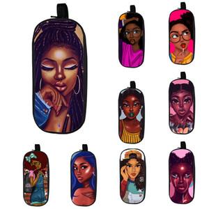 Cartoon Student Pencil Case 20 Design Kids Big Capacity Afro Cartoon Girls Stationery Storage Bag Kids High Quality Zipper Pencil Bag 06