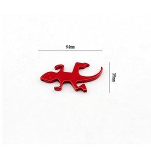 Portable Mini Lizard Shape Beer Bottle Opener Keychain Aluminum Beer Bottle Opener Can Personalized Logo 2 Colors Favor Gifts