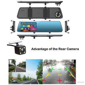 4.3 '' HD 1080P İkili Lens Araç DVR Dikiz Aynası Dash Cam Kaydedici Kamera Setleri TH0273