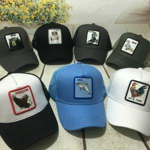 Tier bestickte Baseballmütze Männer und Frauen Sommer Mode Persönlichkeit Hut Hip Hop Ente Zunge Hut