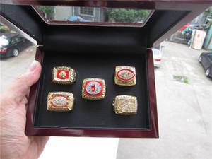 Washington 1972 1982 1983 1987 1991 Redskin s Wolrd Campeões Team Championship Anel Com caixa de madeira lembrança atacado Promoção Presente Fan