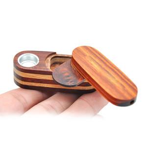 Holz Aufbewahrungsbehälter-Kasten Drehen Falten Tragbarer innovatives Design Rauchpfeife Mini Metallschüssel Filter für Tabak Qualitäts-Multiple Uses