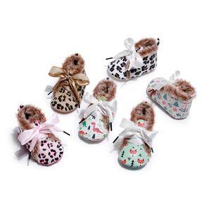 HONGTEYA Bebés Meninas Mary Jane Dress Plano Shoe fuzzy infantil Couro PU criança Mocassins Sandálias