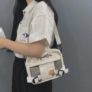 2020 HOT Japanese Students Chic Port Style Literature And Art Retro Canvas Bag Female Korean Wild Ins Messenger Bag