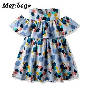 Vestido de verano Menoea nuevo estilo europeo y americano deja a los niños Impreso traje de los niños vestido para las muchachas lindas