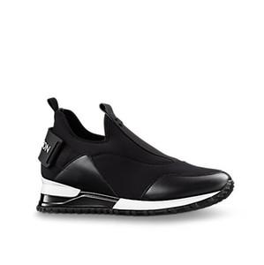 NEUESTE Marken-Laufschuhe im Slip-On-Stil mit ansteigendem Sneaker-Höhe, die Paris Designer Women Run Way Technical Fabric-Sportschuhe erhöhen