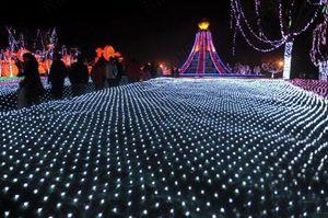 10MX8M 2000LED extra large fishing net light lantern outdoor waterproof holiday full star Christmas decoration lights